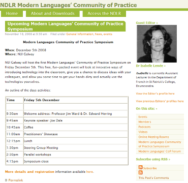 NDLR Modern Languages CoP Blog