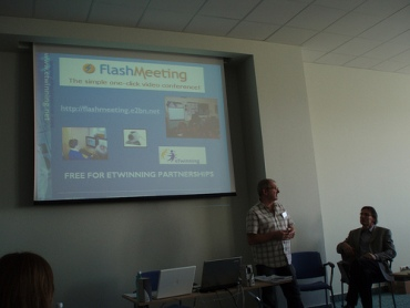 John Warwick at Bucharest eTwinning Conference 2008