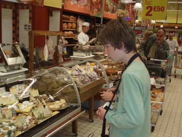 Checking out the cheese counter