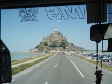 En route to Mont St Michel