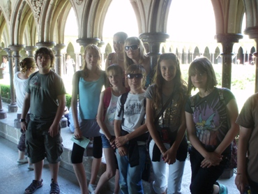Posing at Mont St Michel