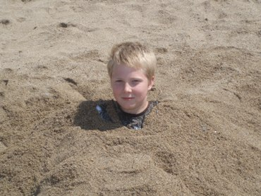 Sam gets buried