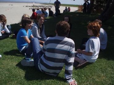 Having a picnic at Cherrueix