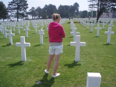 At the American Cemetery