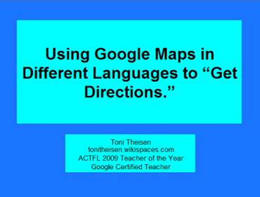 Using Google Maps in Different Languages to Get Directions