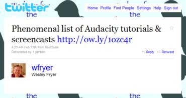 Wes Fryer tweet