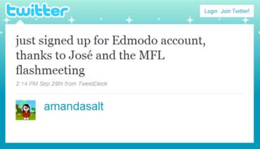 Edmodo and the MFL Flashmeeting