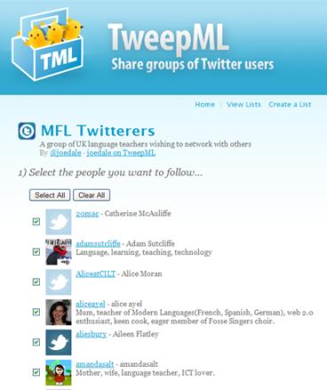 Mustering the MFL Twitterati