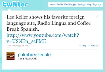 PalmFreezeCafe tweet