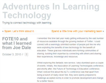 FOTE10 and what I learned from Joe Dale