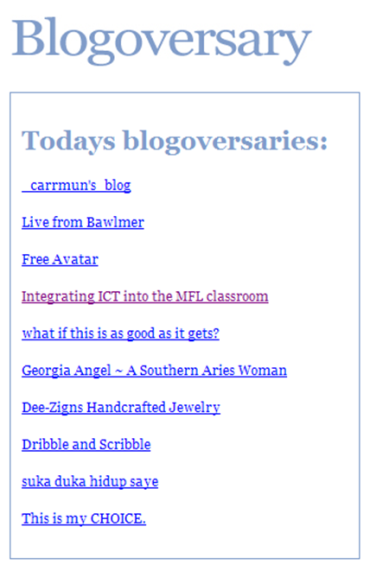 Blogoversary no4