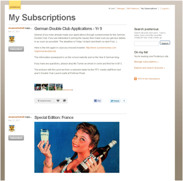 Subscribing to a Posterous blog5