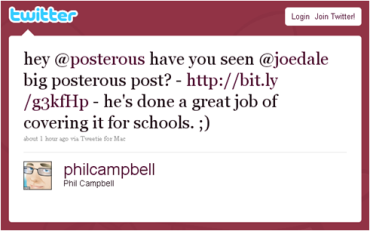 Phil Campbell's Posterous tweet