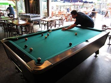 Steph playing pool