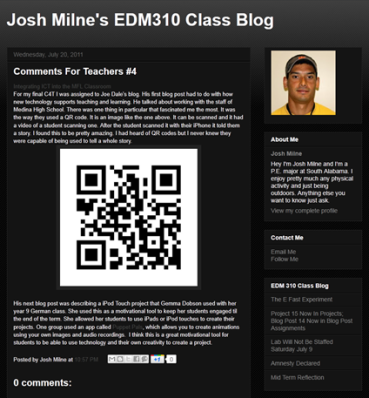 Josh Milnes blog post