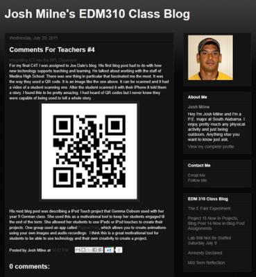 Josh Milnes blog post
