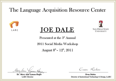 LARC SM Certificate