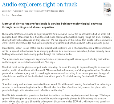 Audio explorers on track