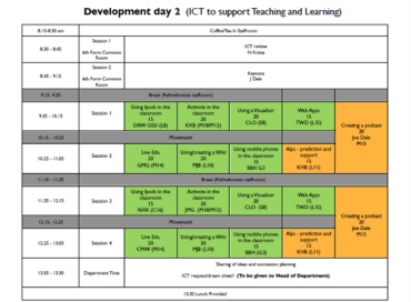 ICT Day programme