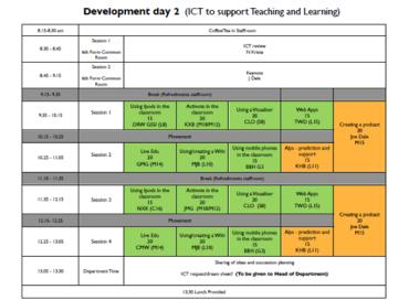 ICT Day programme