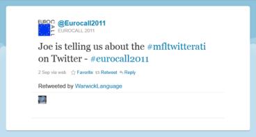 MFLTwitterati at Eurocall 2011