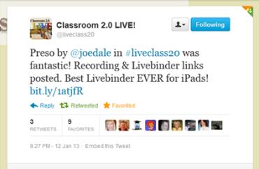 Classroom20tweet