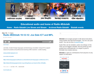 Radio Edutalk Joe Dale ICT and MFL